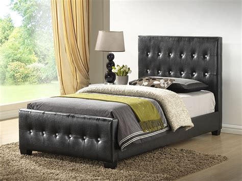 Amazon Com Black King Size Bed Faux Leather With Headboard