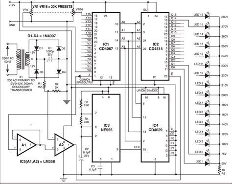 Digital Mains Voltage Indicator Circuit Full Project