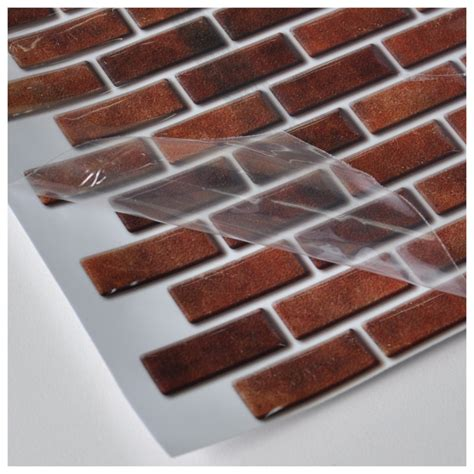 peel and stick wall tile in brick style for kitchen and