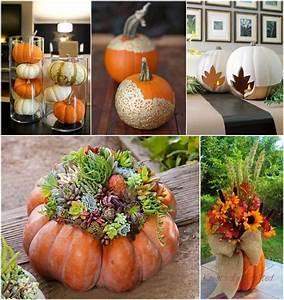 10, Creative, Ways, To, Craft, Pumpkin, Centerpieces, This, Fall