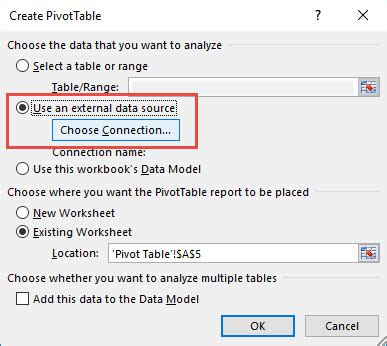 how to load data into multiple tables using sql loader external data source to import data into an excel pivot