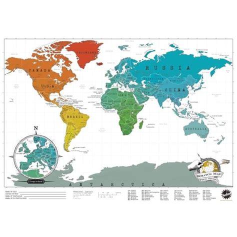 carte monde a gratter carte du monde 224 gratter edition voyage cadeau maestro