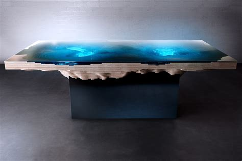 abyss dining table  duffy london  slice  sea  land