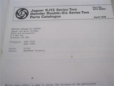 jaguar xj series  parts catalog rtcc
