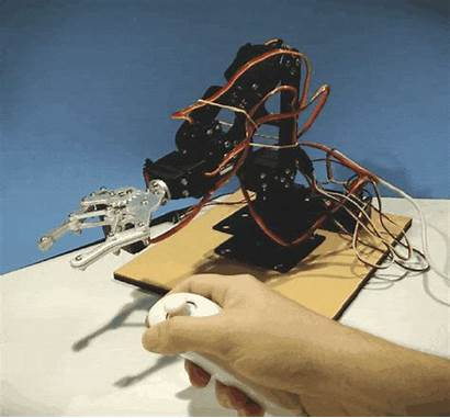 Arduino Nunchuk Controlled Robotic Arm Robot Everything
