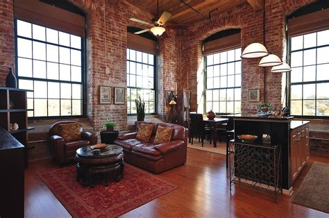 exposed brick living room italian villa floor plans