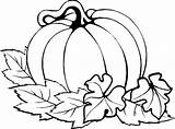 Coloring Pumpkin Thanksgiving Pages Easy Fall Printables sketch template
