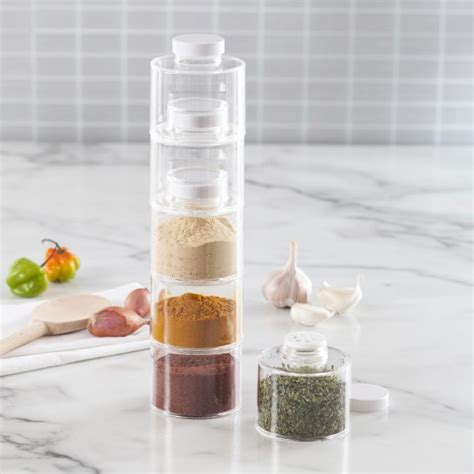 Prodyne Spice Rack by Prodyne Spice Tower Stacking Bottles With Sifter Lids Set
