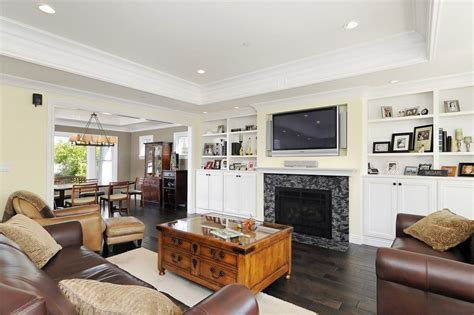 Lighted Tray Ceiling Living Room Craftsman With Ceiling