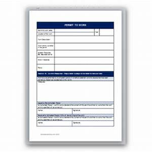 confined space permit to work template With permit to work template