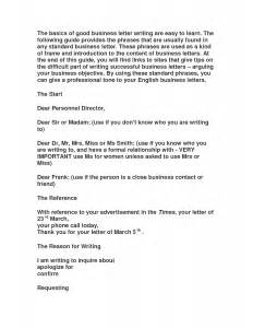 format for a business letter in spanish