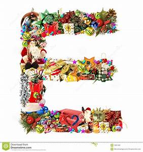 letter e for christmas decoration stock photo image With noel letters christmas decoration
