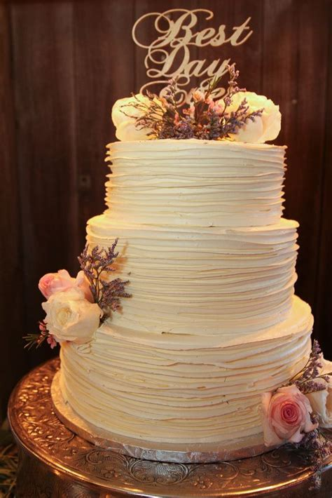 rustic textured buttercream wedding cake  images