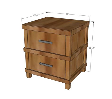 Plans For Nightstand by Owens Nightstand White
