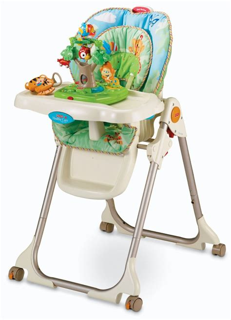 cadeira de alimentacao fisher price rainforest