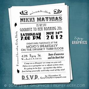 invitation templates 1920s http webdesign14com With roaring twenties invitation template