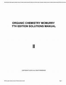 Mcmurry Chemistry 7th Edition Solutions Manual Pdf