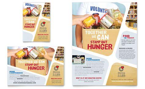 Food Brochure Templates by Food Bank Volunteer Flyer Ad Template Design