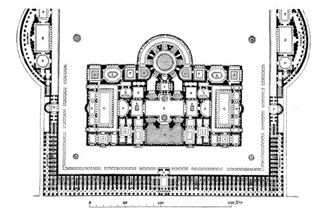 cuisine rome antique file caracalla grundriss jpg wikimedia commons