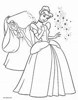 Cinderella Coloring Pages Printable Fairy Disney Princess Print Cool2bkids God Mother sketch template