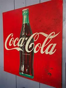7a6d31e2450 Plaque Publicitaire Métal. plaque publicitaire coca cola sold here ...