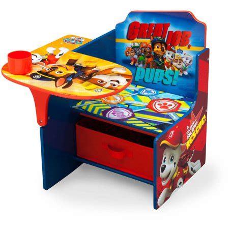 chair desk with storage bin delta children nick jr paw patrol chair desk with storage