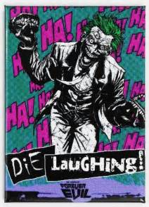 joker die laughing fridge magnet batman dc comics