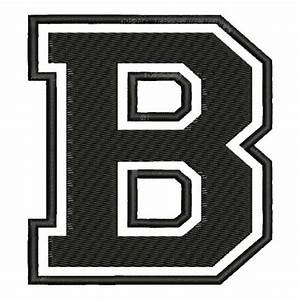 embroidered patch quotbquot letter b font quotcollegequot With patch letters