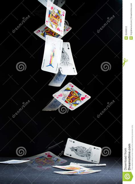 playing cards falling stock photo image  luckiness
