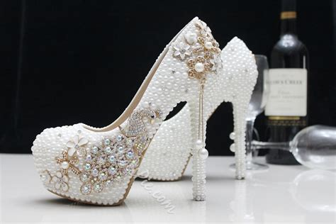 Fashion Round Toe Pearl High Heel Wedding Shoes- Shoespie.com Wedding Chapels Melbourne Wv Locations Quebec Rogue Valley North Queensland Texas Hill Country Gatlinburg Tn Walk In Dubbo