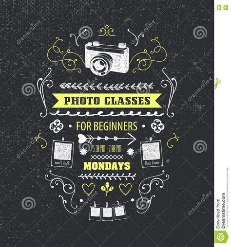 vector photography classes educational studio poster stock vector image 73918540