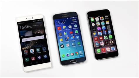 huawei p  samsung galaxy   iphone  benchmark