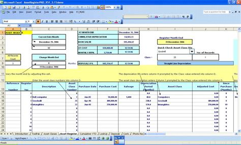 Things That Need Fixed Template by 5 Best Images Of Fixed Asset Accounting Asset Register