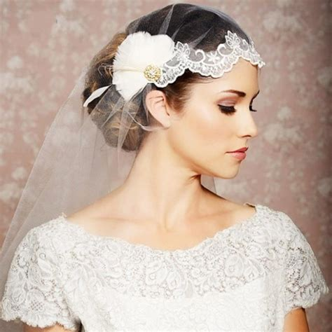 Wedding Veils Hair Accessories by 19 Fabulous Bridal Hairstyles With Veils And Hairpieces