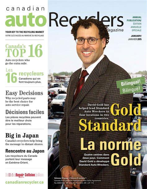 canadian auto recyclers magazine  january