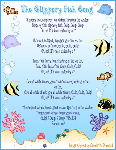 preschool bird songs and fingerplays slippery fish annemarie this song my bambinos 689