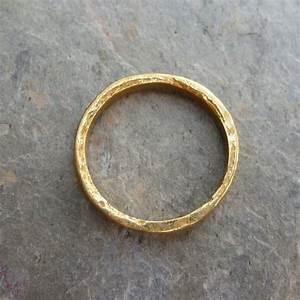 Pure gold primitive 24k wedding ring artisan hammered for 24k gold wedding ring