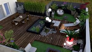 Stunning deco design jardin terrasse gallery design for Idee deco terrasse zen