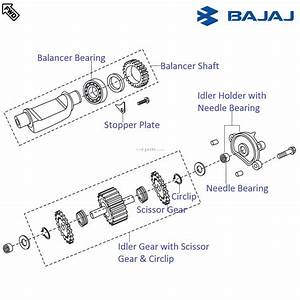 Bajaj Pulsar 220f Dtsi  Balancer Shaft