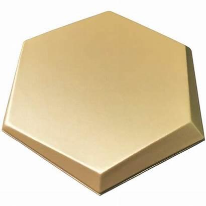 Hexagon Leather Panels Golden Faux
