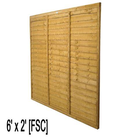 2ft Trellis Fence Panels by Waney Fence Panel 6ft W X 2ft H Fsc