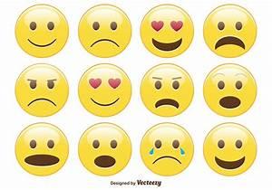 Cute Smiley / Emoticon Set - Download Free Vector Art ...