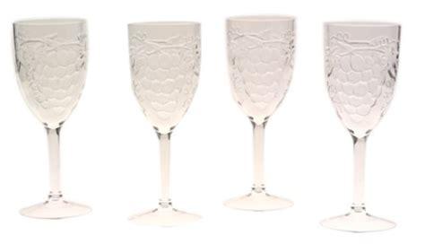 Jubilee 10-ounce Acrylic Embossed Grape Wine Glasses Set