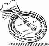 Barometer Drawing Rain Gauge Negative Pressure Atmospheric Grafiken Vectors Rf Graphics Cartoons Clipart sketch template