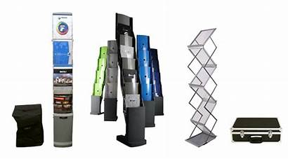 Stands Brochure Features Display Leaflet Stand Kinds