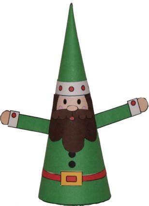 dltk christmas decoration cone paper craft