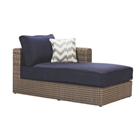 outdoor sofa with chaise polywood nautical slate grey 3 piece patio chaise set