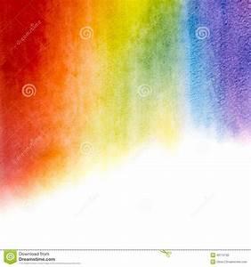 Watercolor Rainbow Background Stock Photo - Image: 43770702
