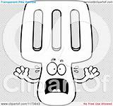 Mascot Spatula Screaming Outlined Coloring Clipart Cartoon Vector Thoman Cory sketch template