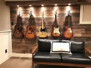Guitar display wall I transformed this wall and added